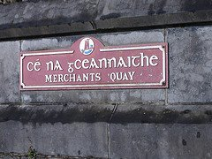 Gaelic Script on Sign