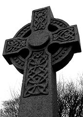 Celtic cross pattern on  Antrim cross