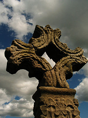 Old Celtic High Cross  Devinish Island  Co Fermanagh
