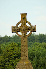 Nice celtic cross pattern  Iona  Scotlan