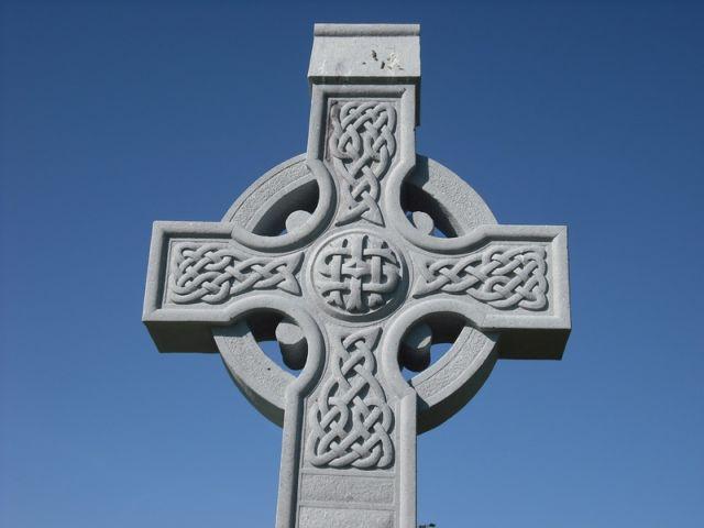 Celtic Knot Design On Cross