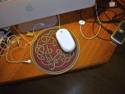 Celtic Knot design on Mouse mat