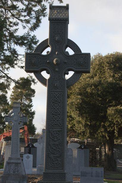 Celtic Knot design  art on  Glasnevin  cross