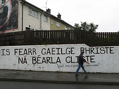 Famous Irish saying on wall