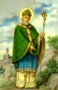 St Patrick with shamrock