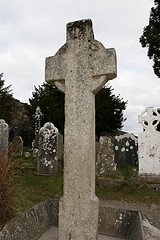 Celtic  Cross - Plain  High  Cross  Glendalough