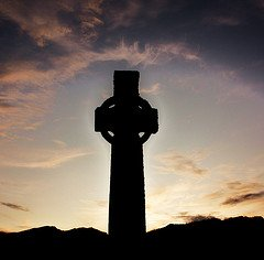 Celtic Cross picture St Martin's, Iona, Scotland