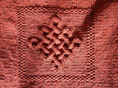 Celtic Knot pattern on  sweater