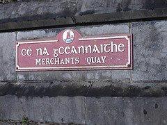 Gaelic Script on Sign