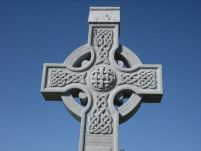Celtic knot design on cross