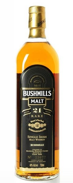 Bushmills 21 year old whiskey