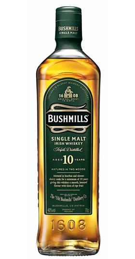 Bushmills 10 year old whiskey