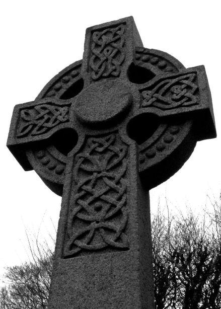 Celtic cross pattern on Antrim cross